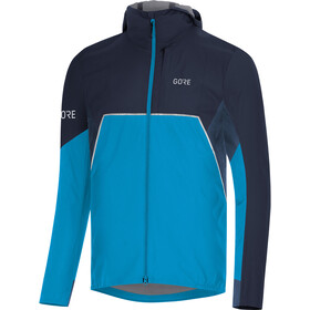 GORE WEAR R7 Partial Gore-Tex Infinium Veste à capuche Homme, dynamic cyan/orbit blue